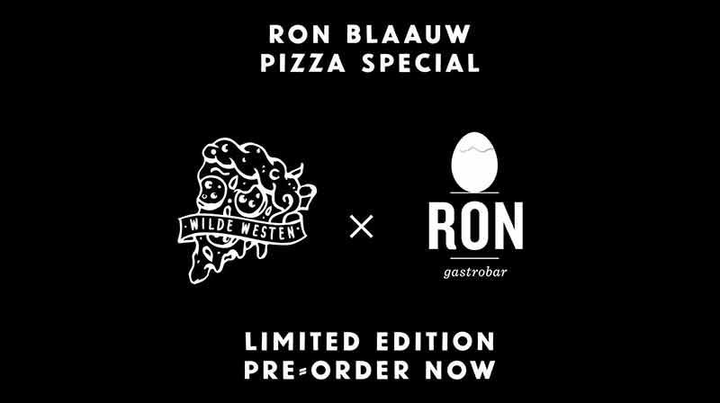Ron Blaauw Pizza bij Wilde Westen Marnixstraat Amsterdam